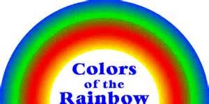 what are the colors of the rainbow in order colors of the rainbow