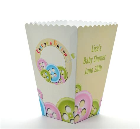 Baby Shower Popcorn Boxes by As A Button Personalized Baby Shower Popcorn Boxes