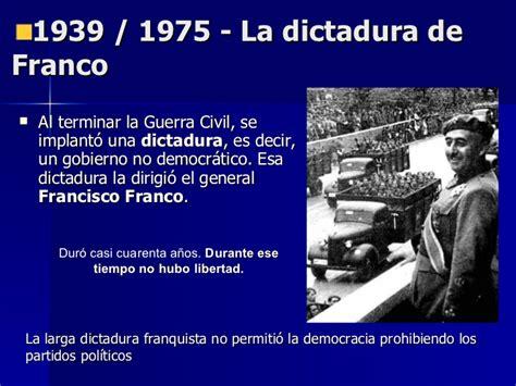 la dictadura de franco edad contemporanea