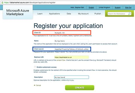 how do i register my as a service using azure translator services with delphi delphiaball