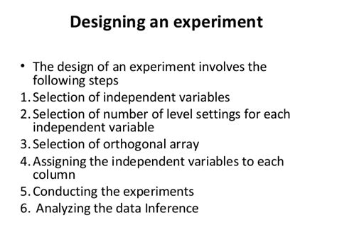 design of experiment using taguchi approach taguchi design of experiments nov 24 2013