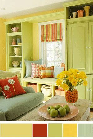 yellow color schemes for living room interior color schemes yellow green spring decorating