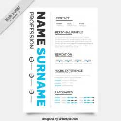 creative resume templates free creative resume template vector free