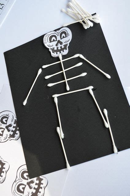 q tip skeleton halloween pinterest