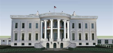 number to the white house the white house 3d model skp cgtrader com