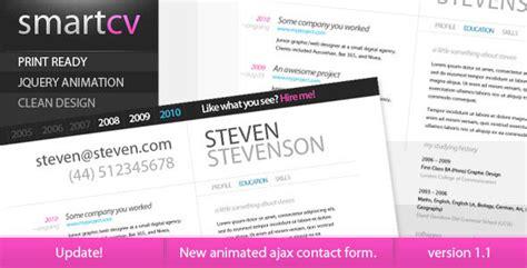 themeforest resume smart cv resume themeforest theme html others