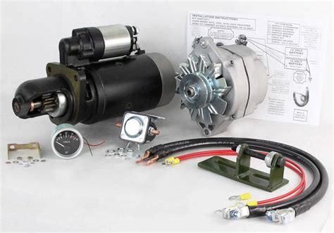 Starter Kit Vit E new 24 to 12 volt alternator and starter kit fit