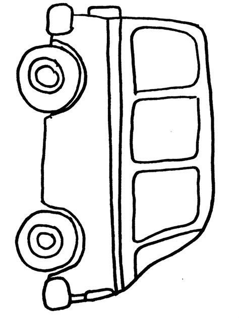 coloring page of a van pin van coloring on pinterest