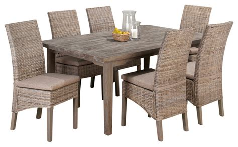 Grey Dining Room Sets by Jofran Burnt Grey 7 Rectangle Leg Dining Room Set