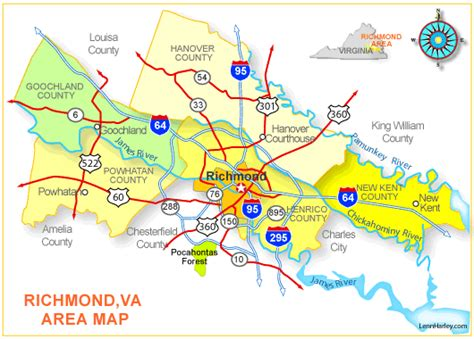 richmond va map map of richmond va and surrounding areas swimnova