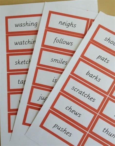 montessori grammar printable 106 best images about montessori grammar and farm on