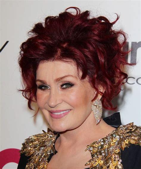 sharon osbourne new haircut pixie sharon osbourne updo medium curly formal wedding updo