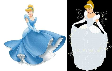 why is it that cinderella s dress is always portrayed as