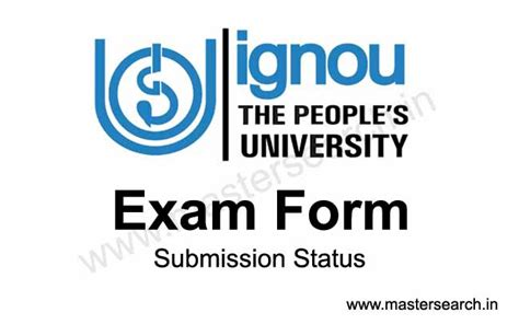 Ignou Distance Education Mba Results by Ignou Form Status Master Search