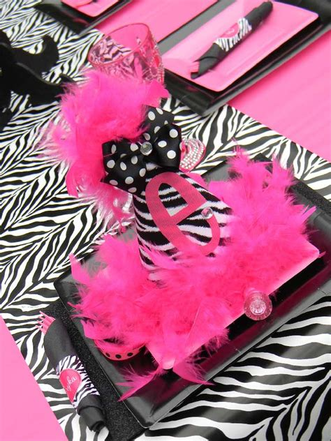 zebra print themed birthday party hot pink and zebra print birthday party ideas photo 1 of