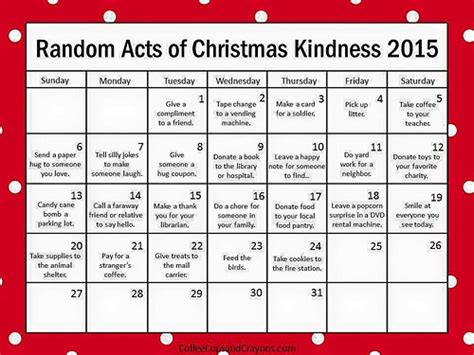 7 Great Acts Of Kindness You Can Copy by Louise Tilbrook Designs For December Something A