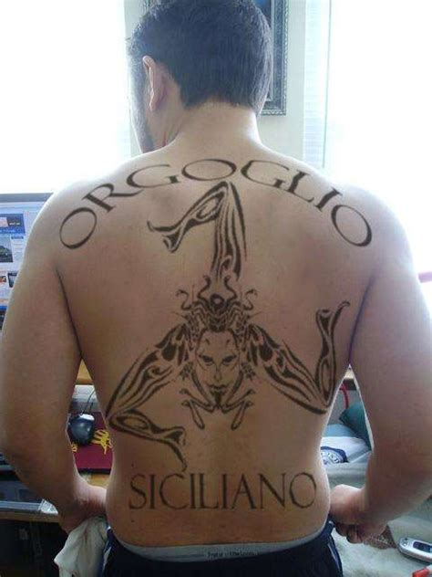 sicilian tribal tattoos trinacria