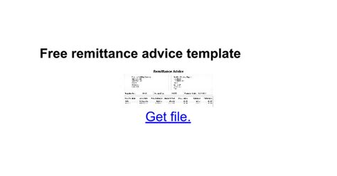 remittance advice form template