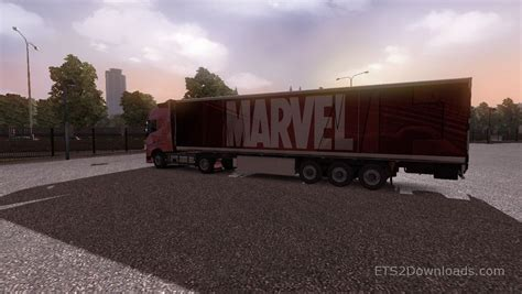 marvel trailer awesome truck simulator 2 marvel trailer