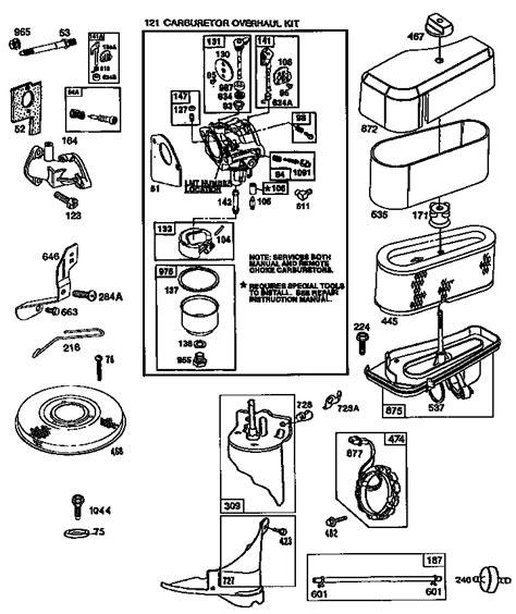 diagram of briggs and stratton lawn mower engine briggs stratton engine briggs and stratton parts model