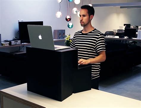 stand up desk stand oristand fold flat stand up desk 187 gadget flow