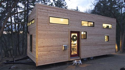 Glass Front Door, Tiny House on Wheels