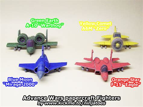Advance Wars Papercraft - papercraft advance wars fighters so far by