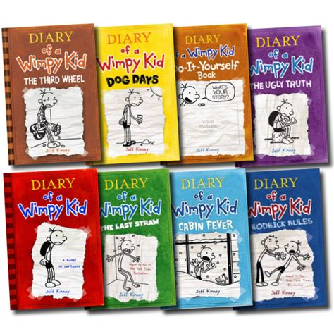 diary of a wimpy kid days book diary of a wimpy kid collection 9 books box set third wheel cabin fever dogday ebay
