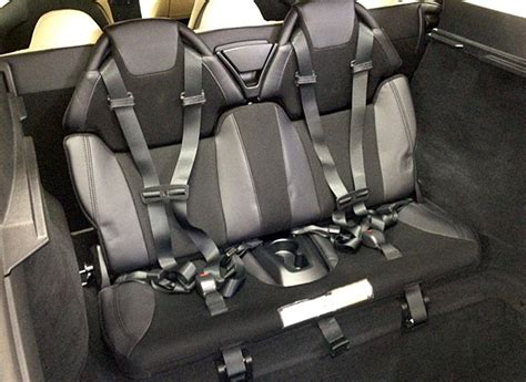tesla model     row seat   seats