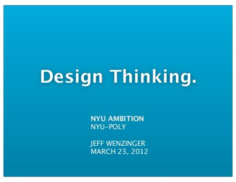 Design Thinking Nyu | design thinking nyu ambition conference