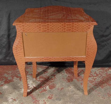 funky bedside tables pair funky snakeskin bedside table chests