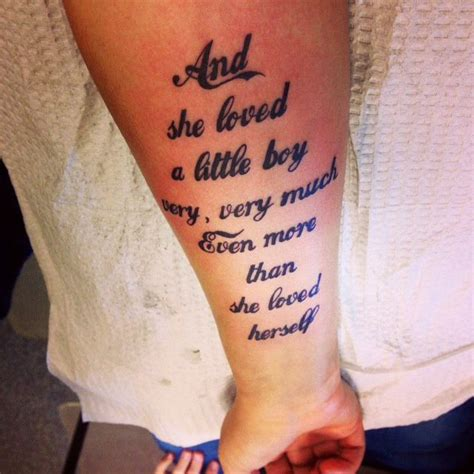 small boy tattoos my newest quot and she loved a boy