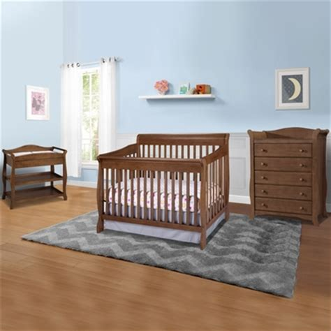 Convertible Cribs With Changing Table And Drawers Storkcraft Modena 3 Nursery Set Convertible Crib Aspen Changing Table And Avalon 5