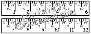 printable ruler with eighths clipartruler 点力图库