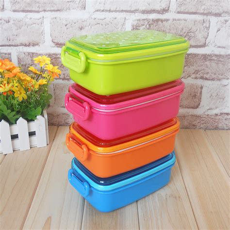 kid food storage containers 4 colors polka dot small japanese food storage box for