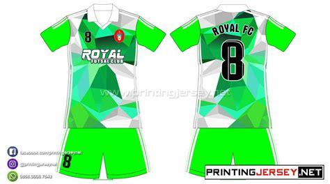 desain baju lari pembuatan kaos futsal royal fc desain abstract printing
