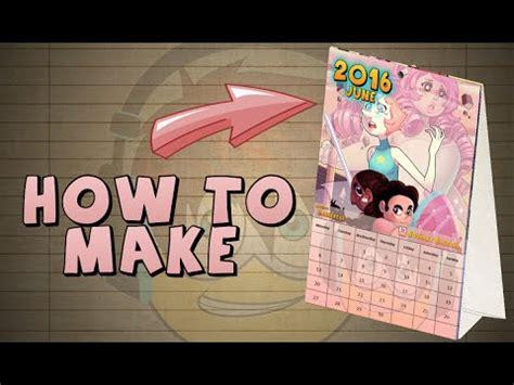 make your calendar 2 how to make your own calendar