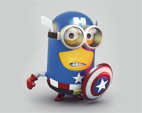 captain america minion wallpaper download minion captain america 2400 x 1920 wallpapers