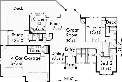 sprawling ranch house plans sprawling ranch daylight basement great room rec room