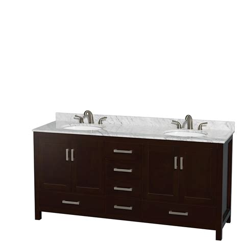 Oval Bathroom Vanity Wyndham Collection Wcs141472descmunomxx Sheffield 72 Inch Espresso White Marble