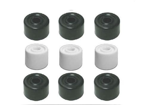 white black rubber door stop stops stopper jam wedge 32 mm