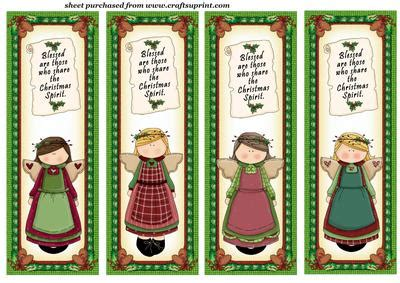 free printable angel bookmarks 4 christmas angel bookmarks dl toppers 1 cup193713 539