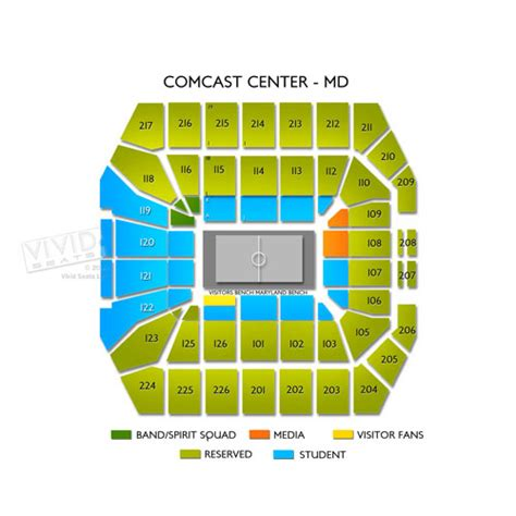 xfinity center seating xfinity center college park tickets seats