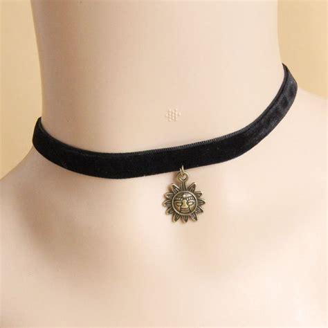 chic style sun shape design s velvet choker necklace