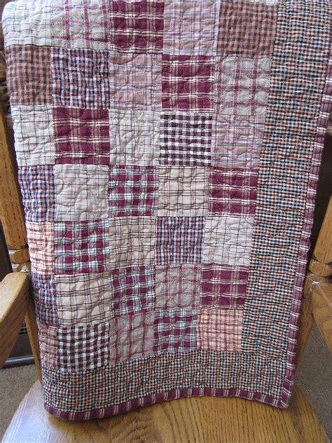 homespun patchwork mini quilt
