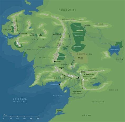 map of the middle earth the encyclopedia of arda middle earth