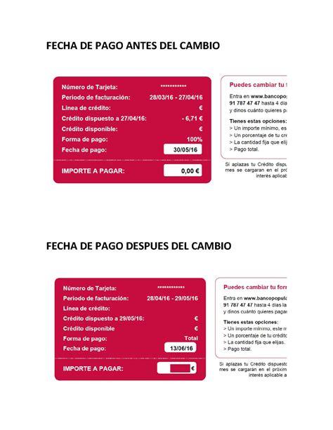visa banco popular visa oro bancopopular e cambio unilateral de fecha de pago