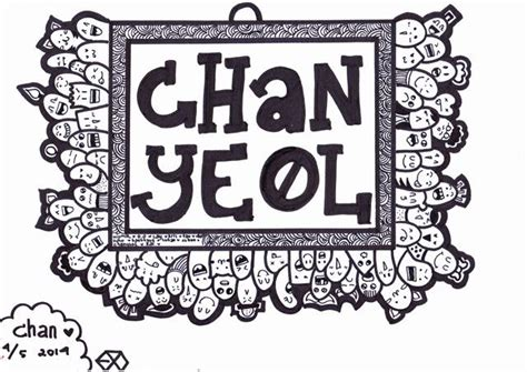 exo doodle wallpaper doodle chanyeol by chancoquett on deviantart