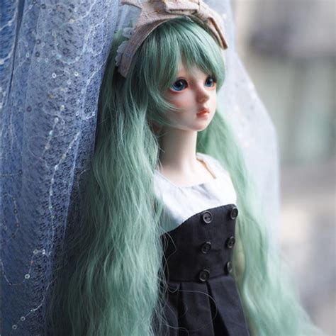 1 3 1 4 1 6 Bjd Wig Heat Resistant Curly 1 3 1 4 1 6 bjd sd doll wig high temperature wire fashion style wavy bjd dollfile