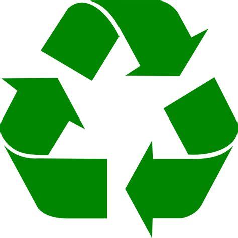 large green recycle symbol clip art at clker com vector